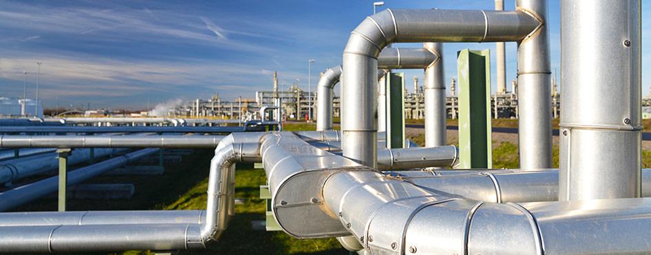 planta de transporte de gas y petroleo